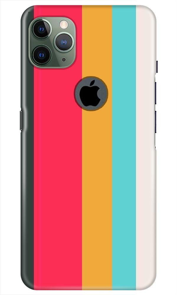 Color Pattern Mobile Back Case for iPhone 11 Pro Max Logo Cut (Design - 369)