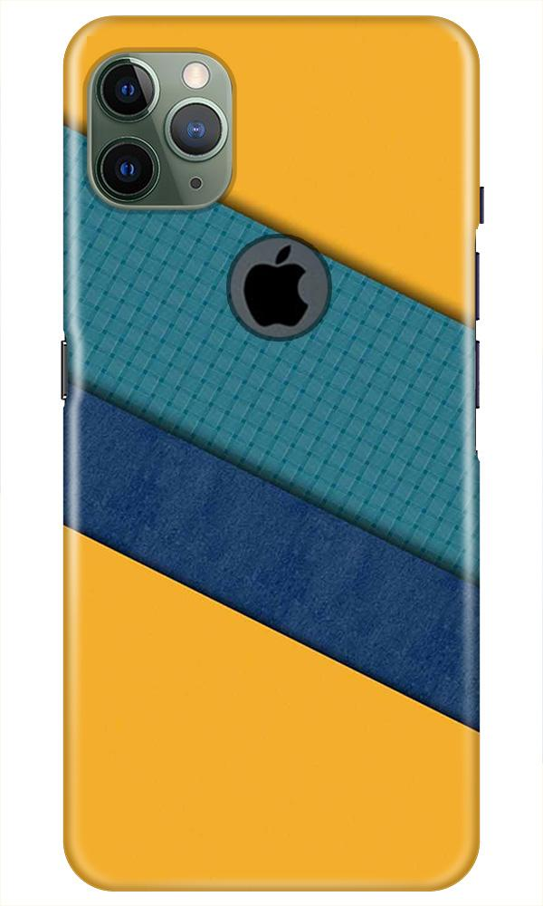 Diagonal Pattern Mobile Back Case for iPhone 11 Pro Max Logo Cut (Design - 370)