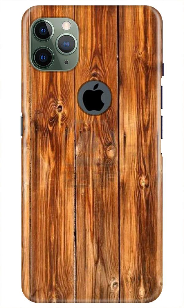 Wooden Texture Mobile Back Case for iPhone 11 Pro Max Logo Cut (Design - 376)