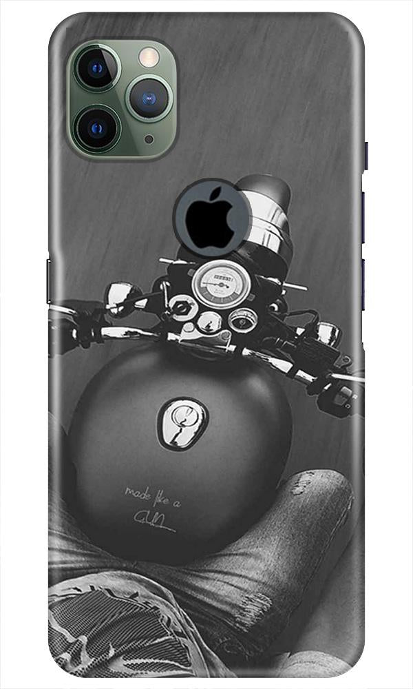 Royal Enfield Mobile Back Case for iPhone 11 Pro Max Logo Cut (Design - 382)