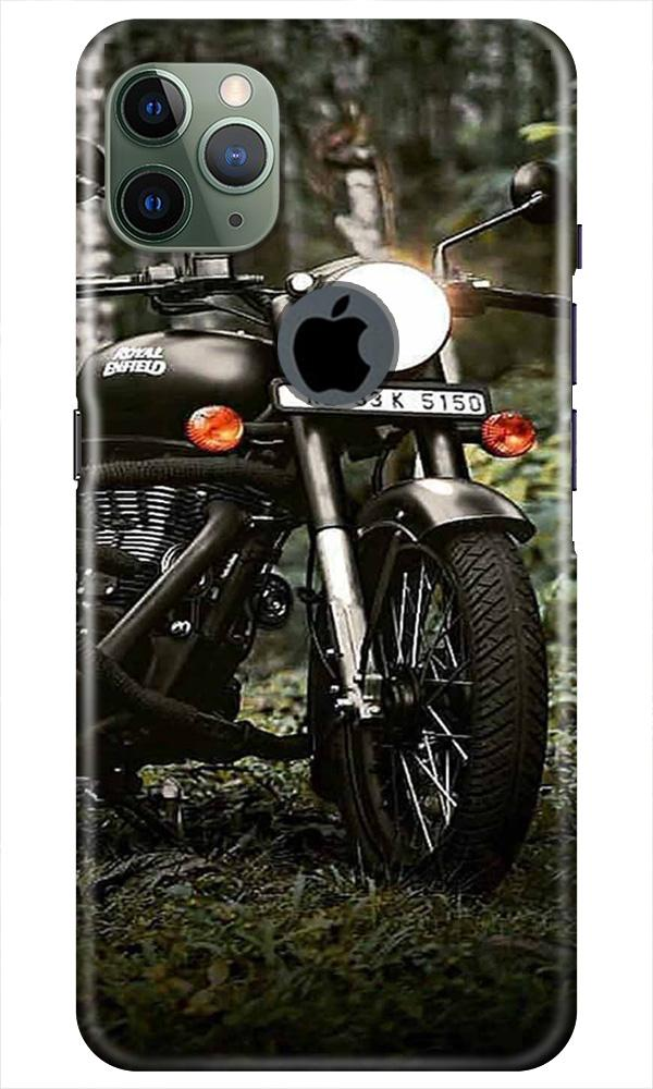 Royal Enfield Mobile Back Case for iPhone 11 Pro Max Logo Cut (Design - 384)