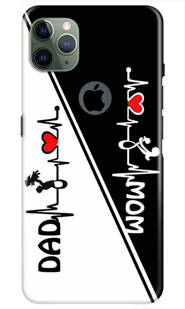 Love Mom Dad Mobile Back Case for iPhone 11 Pro Max Logo Cut (Design - 385)