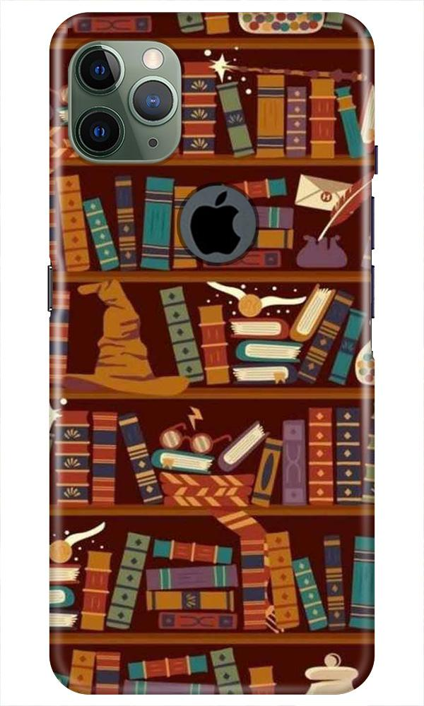 Book Shelf Mobile Back Case for iPhone 11 Pro Max Logo Cut (Design - 390)