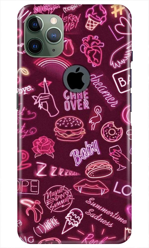 Party Theme Mobile Back Case for iPhone 11 Pro Max Logo Cut (Design - 392)