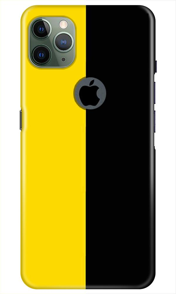 Black Yellow Pattern Mobile Back Case for iPhone 11 Pro Max Logo Cut (Design - 397)