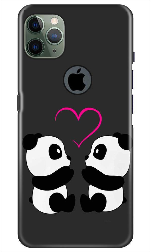 Panda Love Mobile Back Case for iPhone 11 Pro Max Logo Cut (Design - 398)