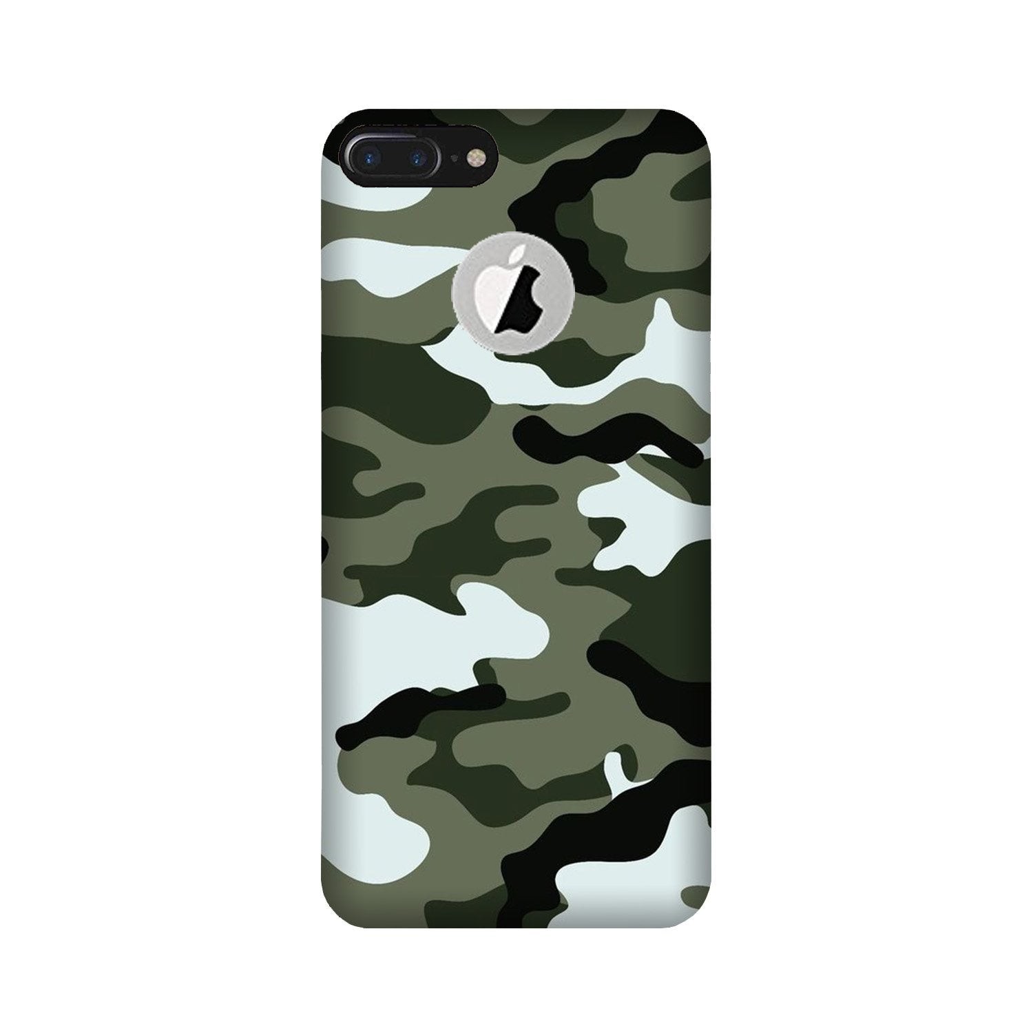 Army Camouflage Case for iPhone 7 Plus logo cut  (Design - 108)