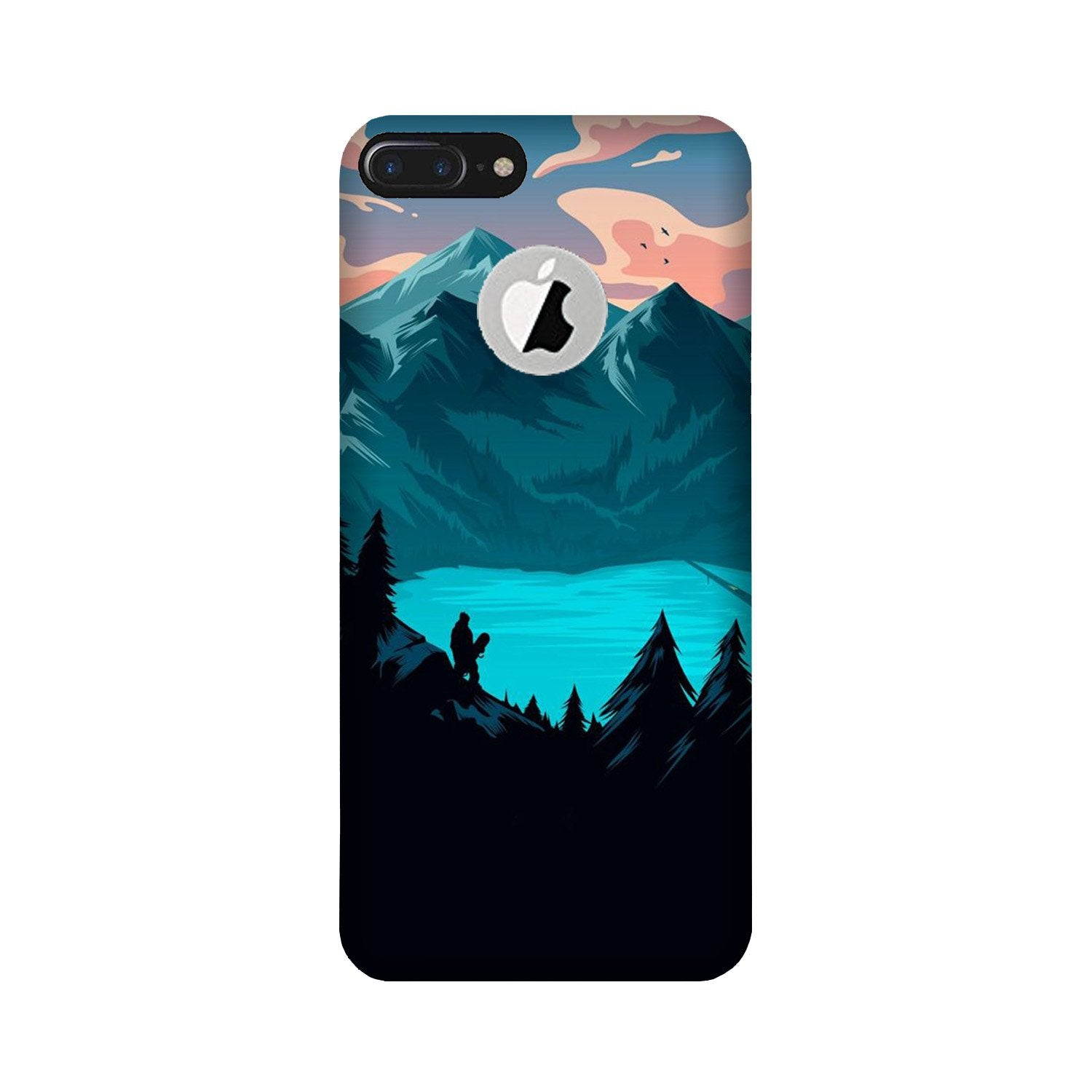 Mountains Case for iPhone 7 Plus logo cut (Design - 186)