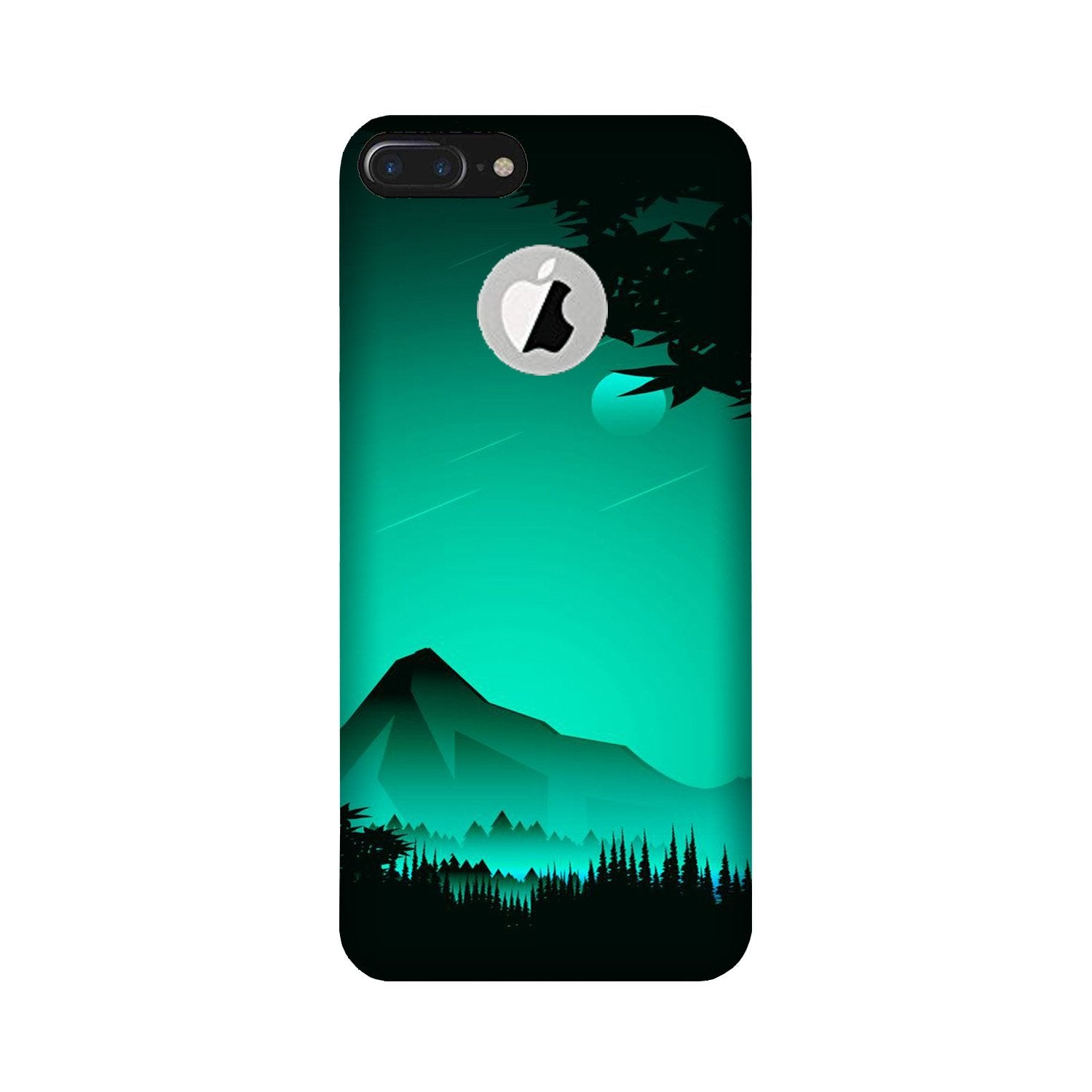 Moon Mountain Case for iPhone 7 Plus logo cut (Design - 204)