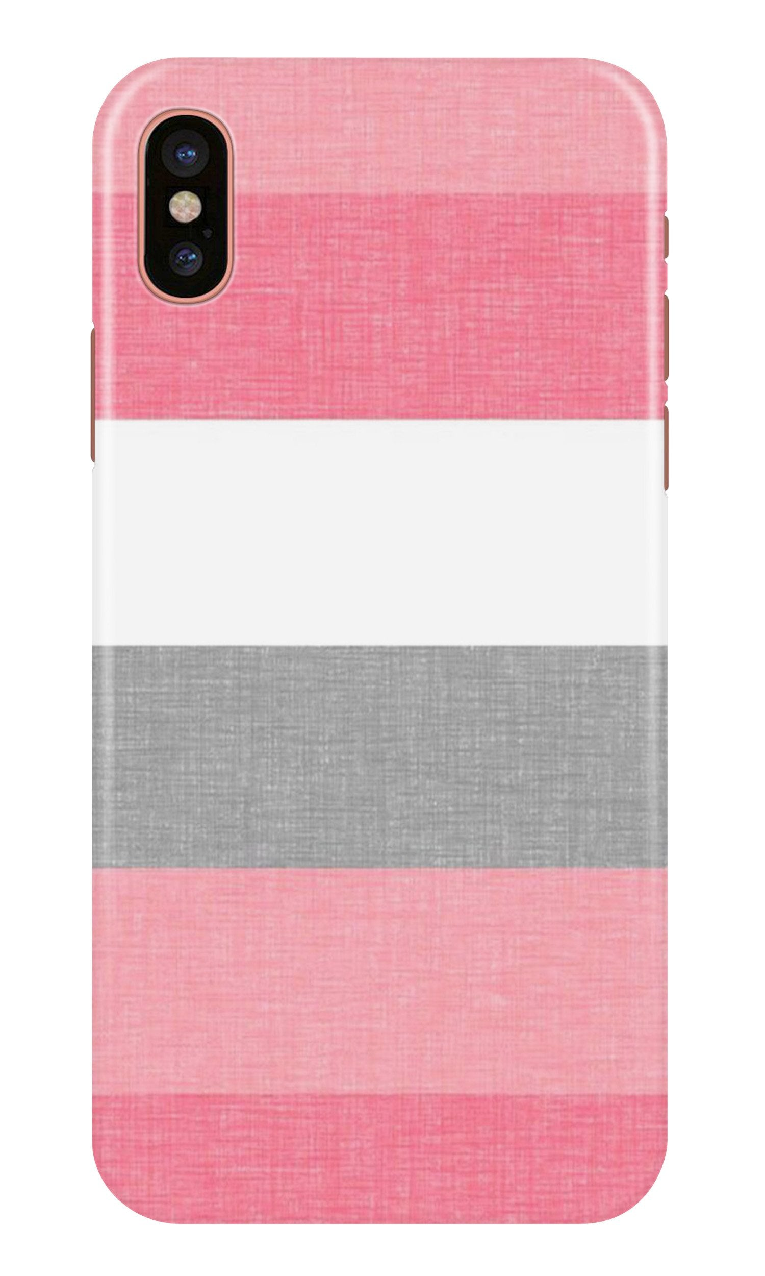 Pink white pattern Case for iPhone X