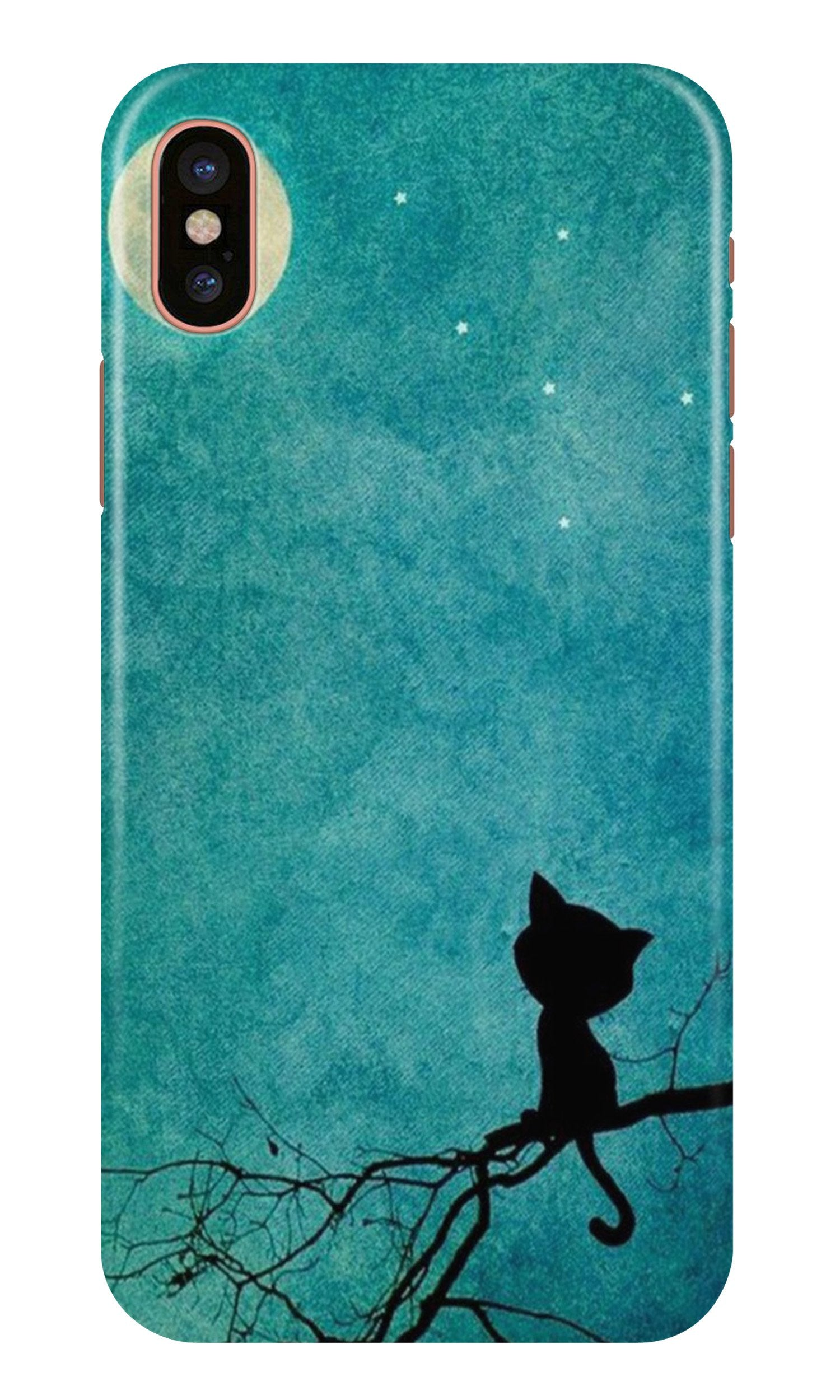 Moon cat Case for iPhone X