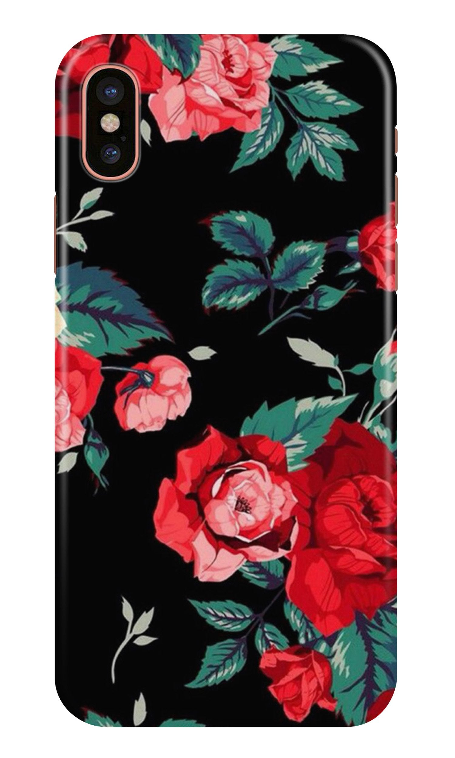 Red Rose2 Case for iPhone X