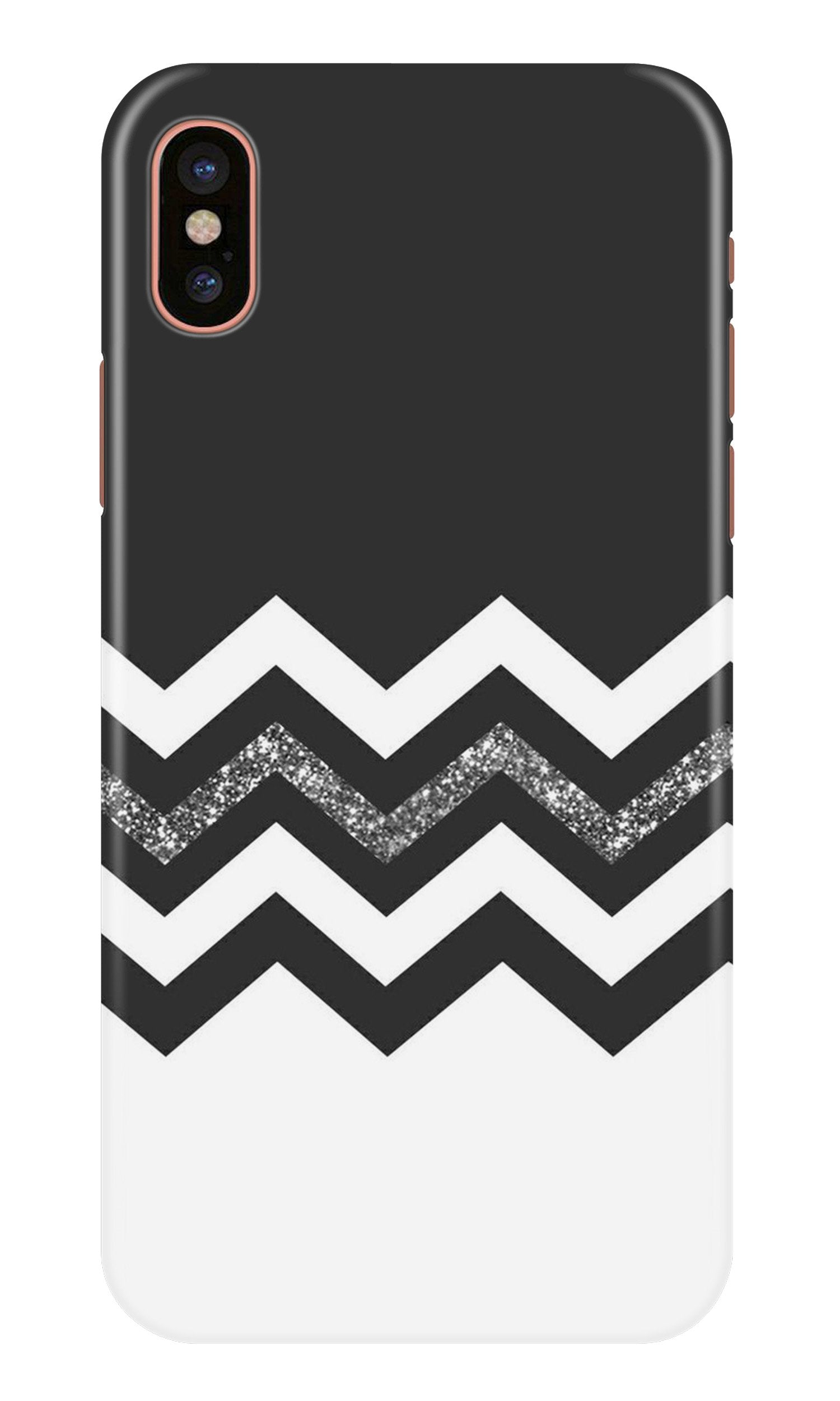 Black white Pattern2Case for iPhone X