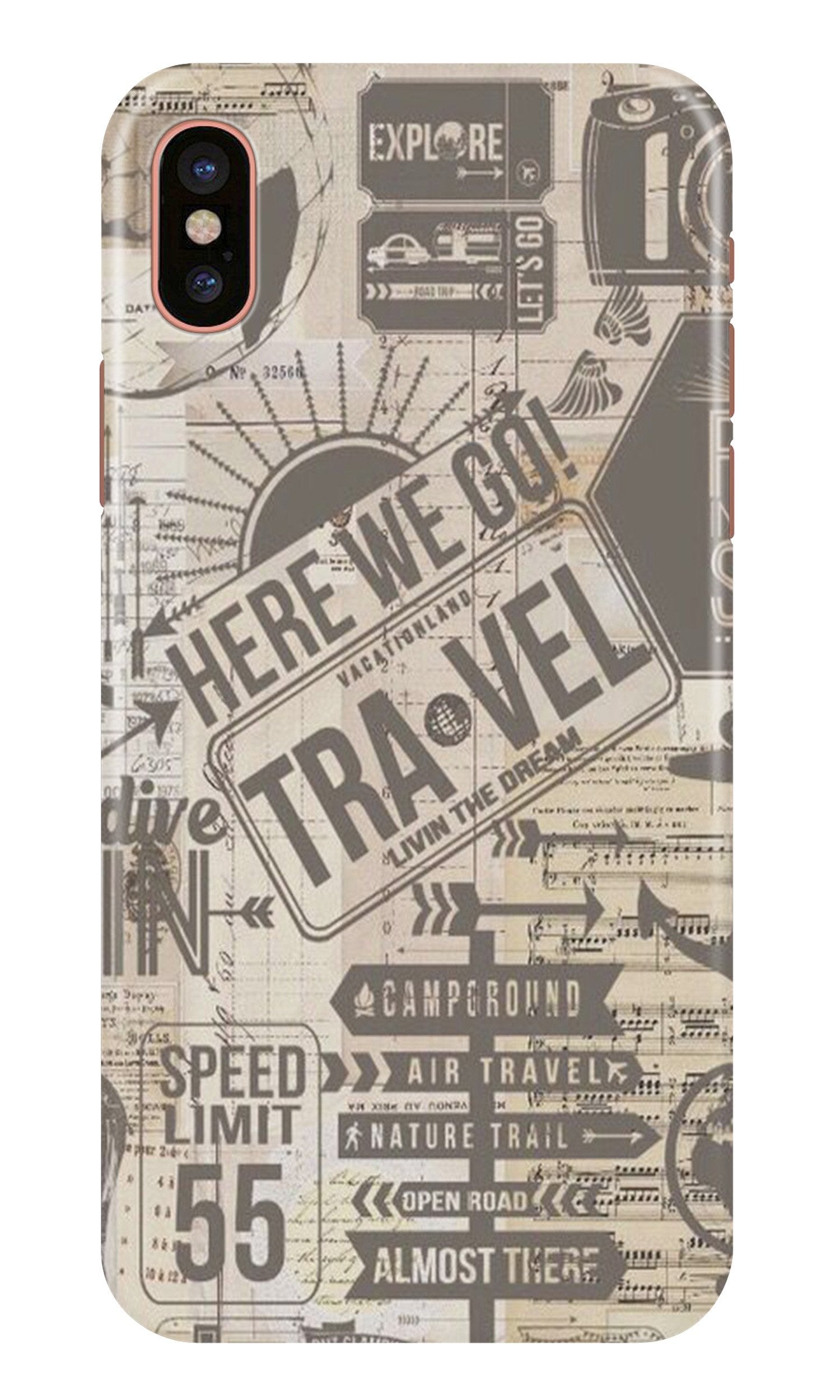 Travel Case for iPhone X  (Design - 104)