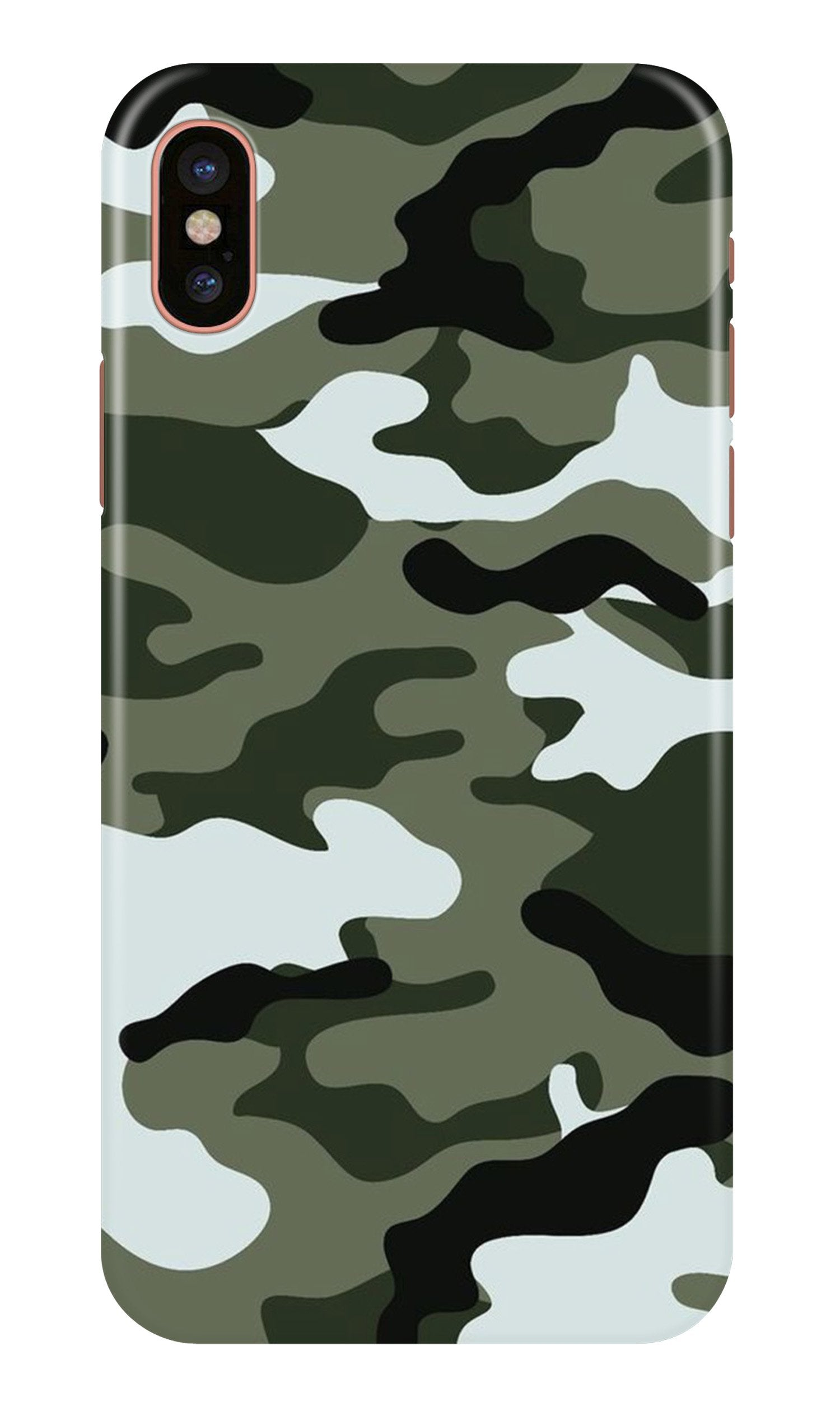 Army Camouflage Case for iPhone X  (Design - 108)