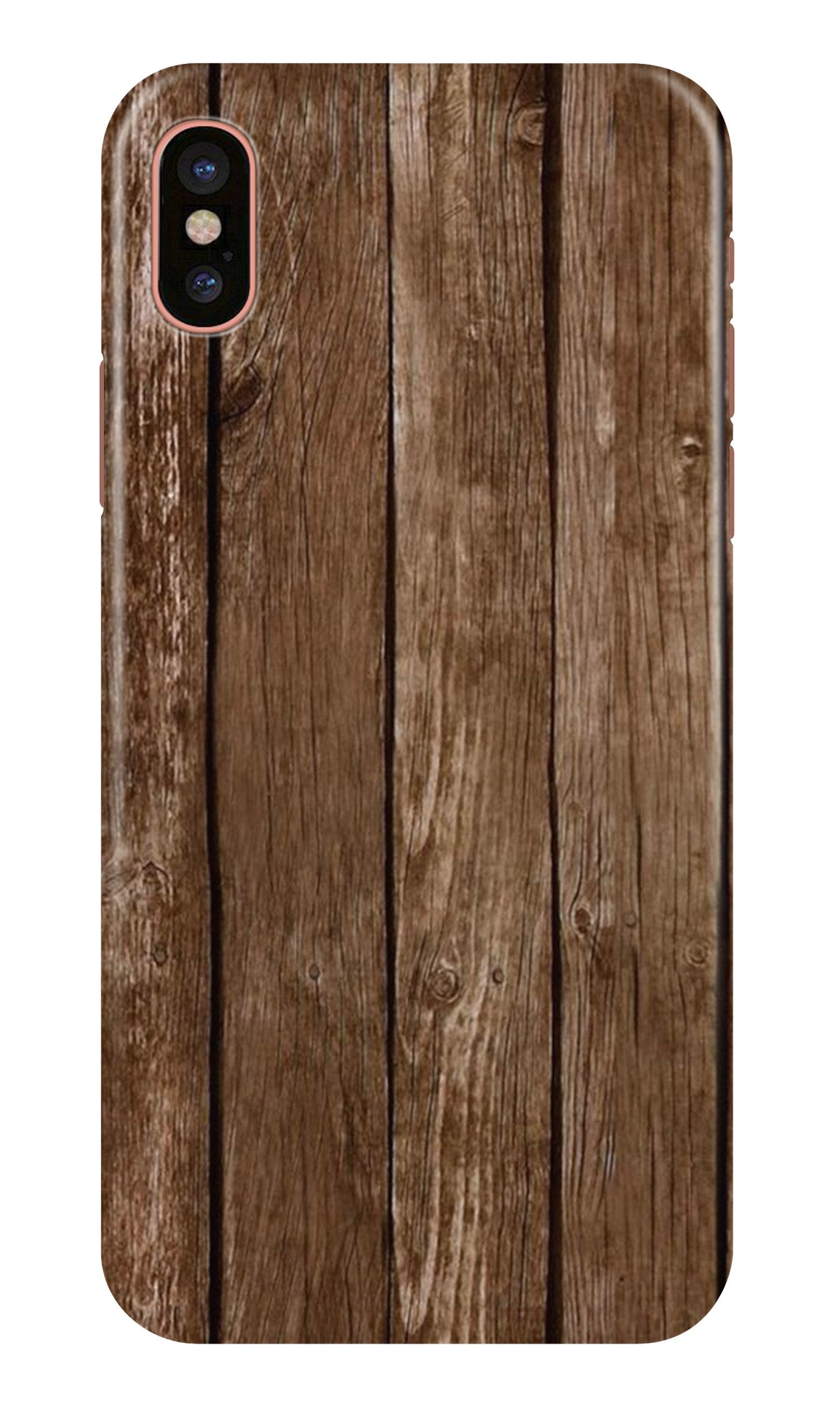 Wooden Look Case for iPhone X  (Design - 112)