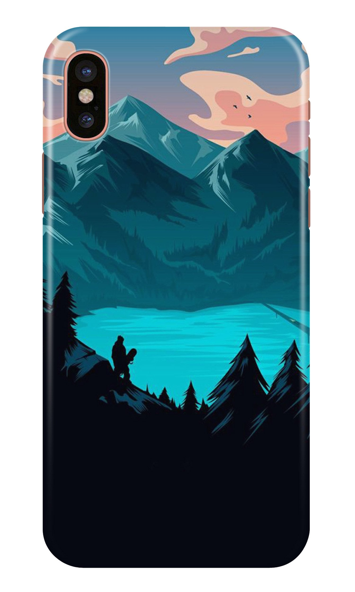 Mountains Case for iPhone X (Design - 186)