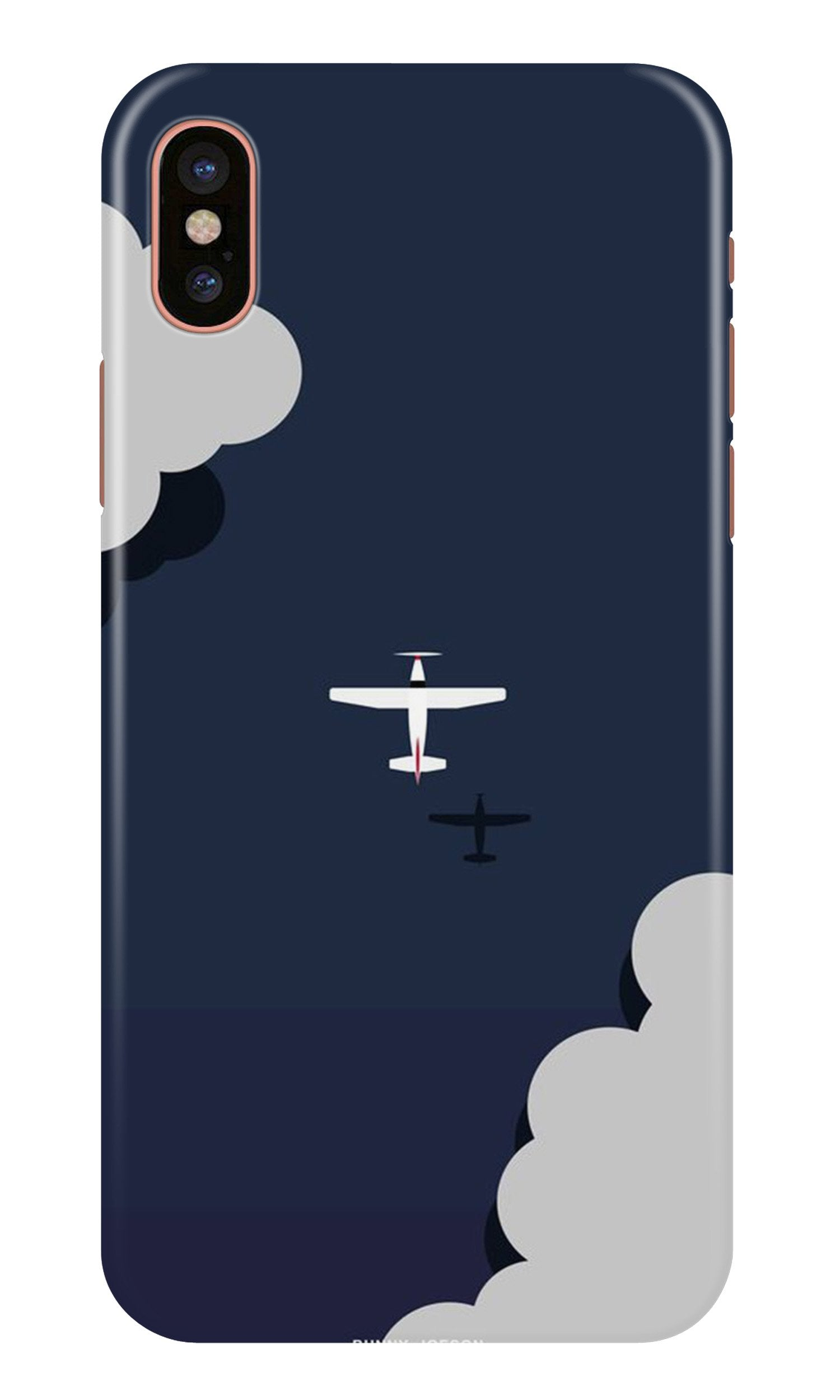 Clouds Plane Case for iPhone X (Design - 196)