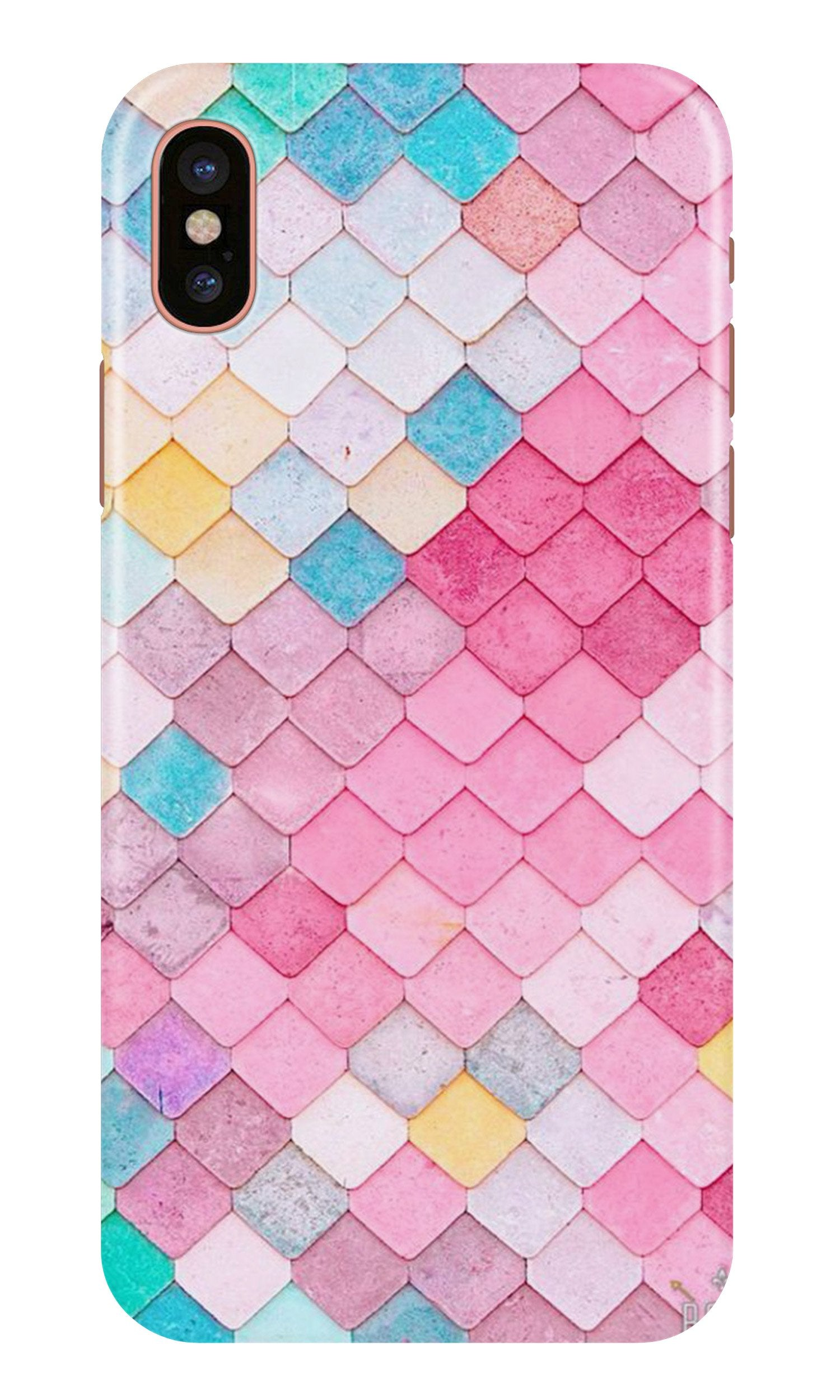 Pink Pattern Case for iPhone X (Design No. 215)