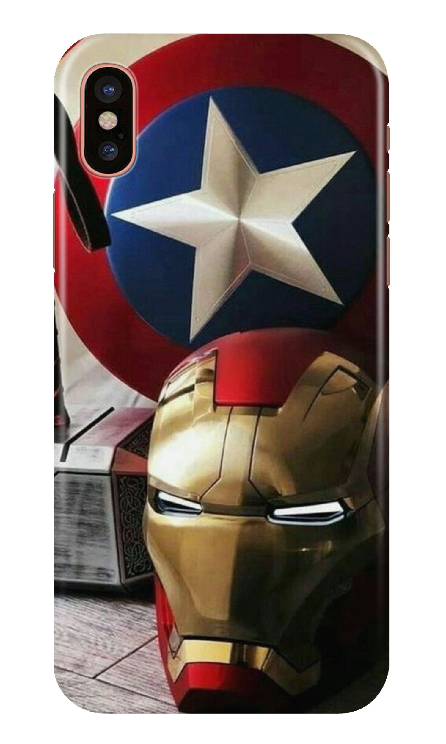 Ironman Captain America Case for iPhone X (Design No. 254)
