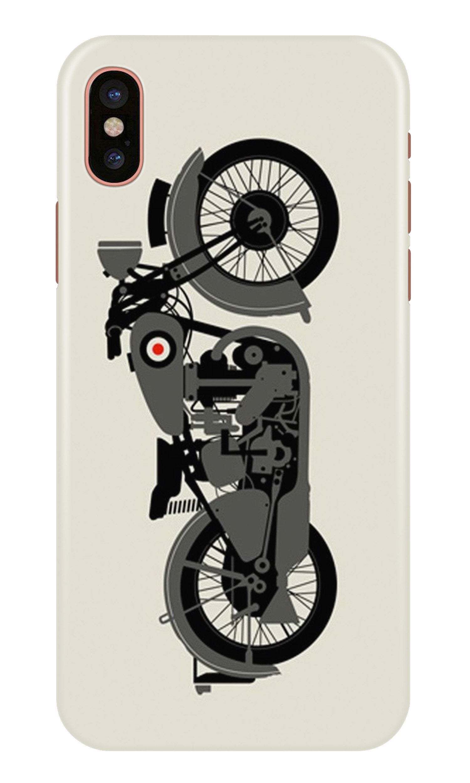 MotorCycle Case for iPhone X (Design No. 259)
