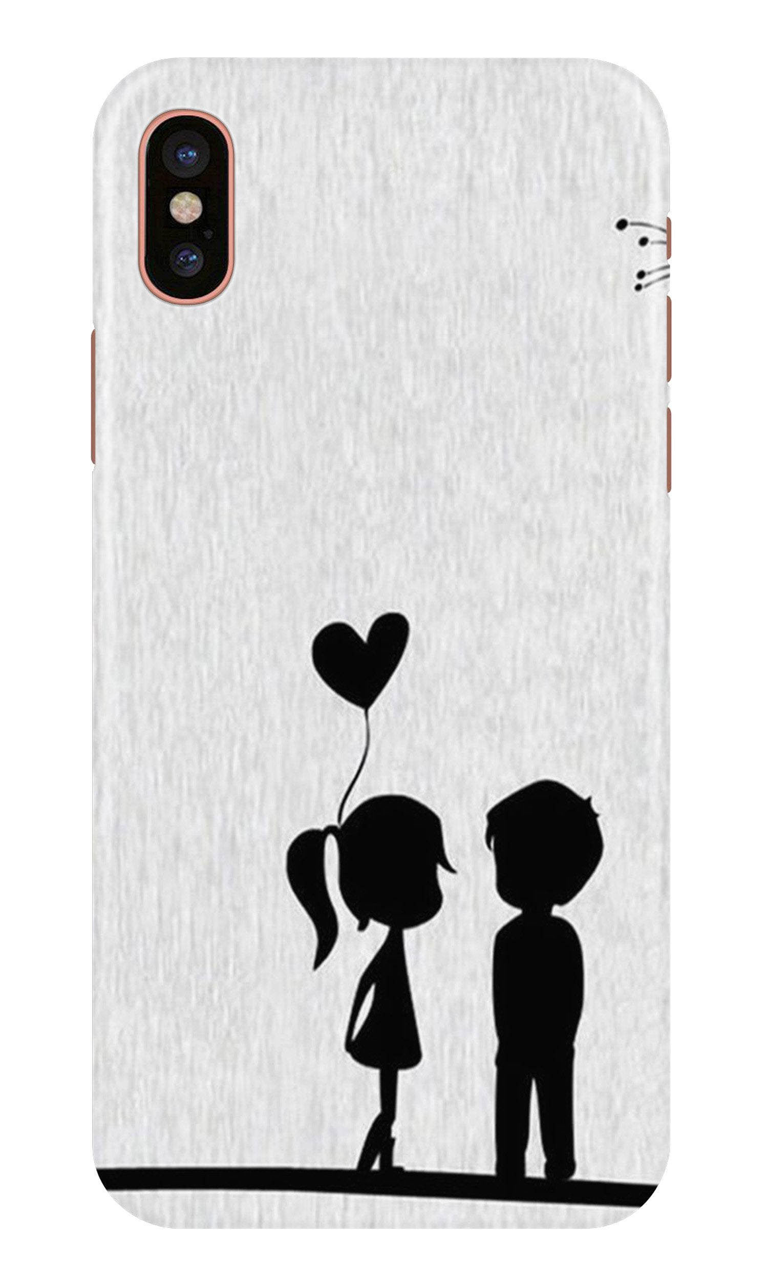Cute Kid Couple Case for iPhone X (Design No. 283)