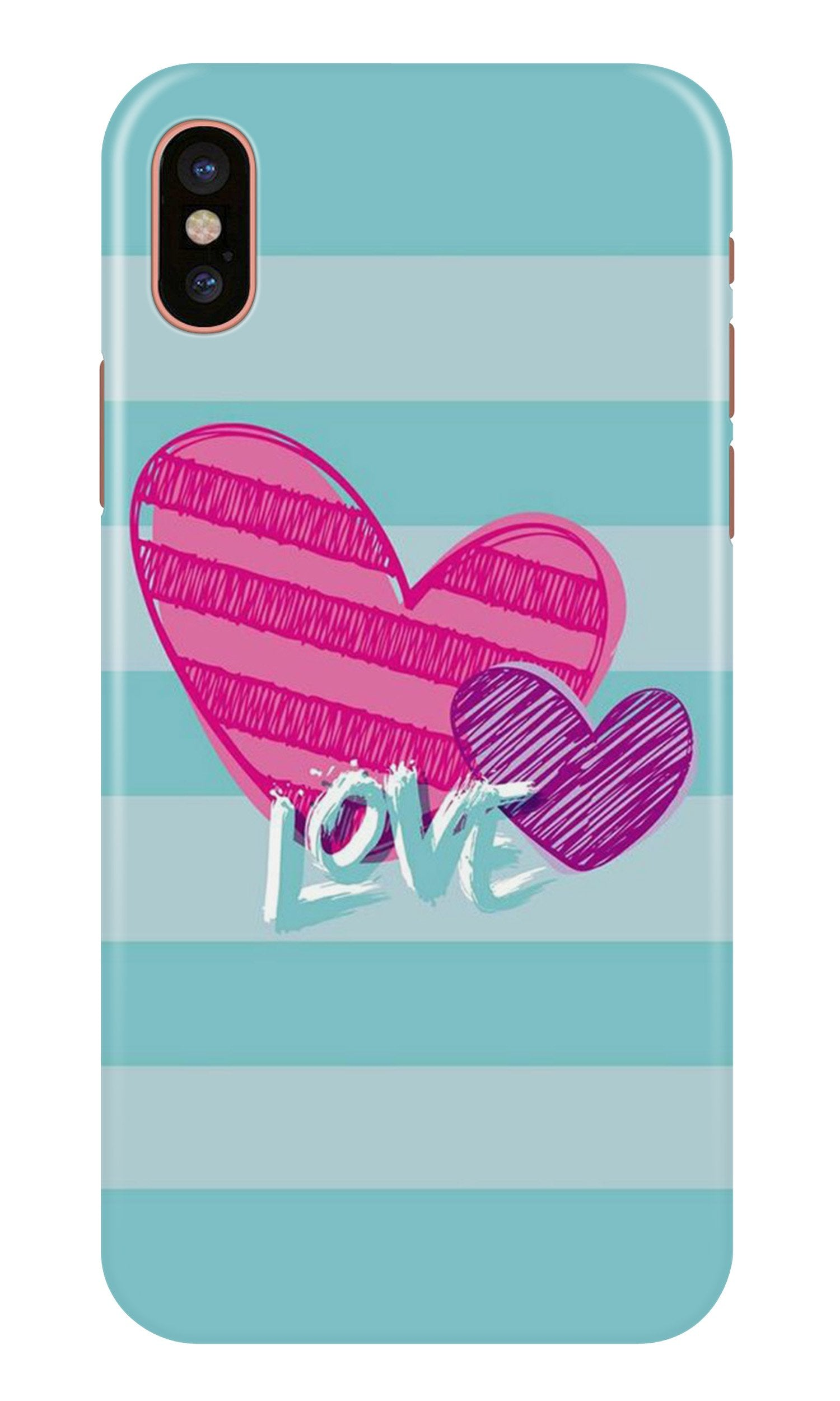 Love Case for iPhone X (Design No. 299)