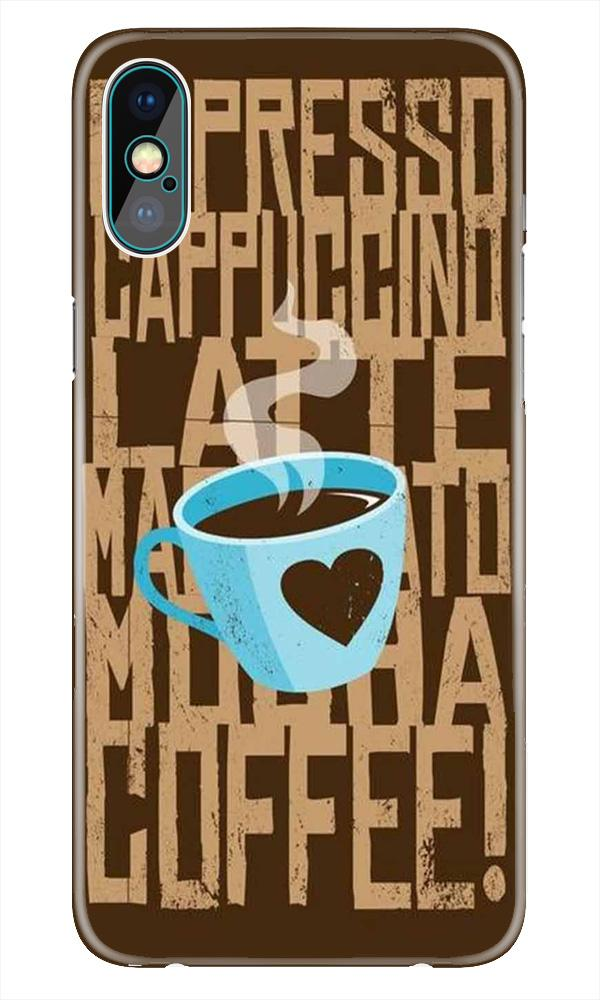 Love Coffee Mobile Back Case for iPhone X  (Design - 351)