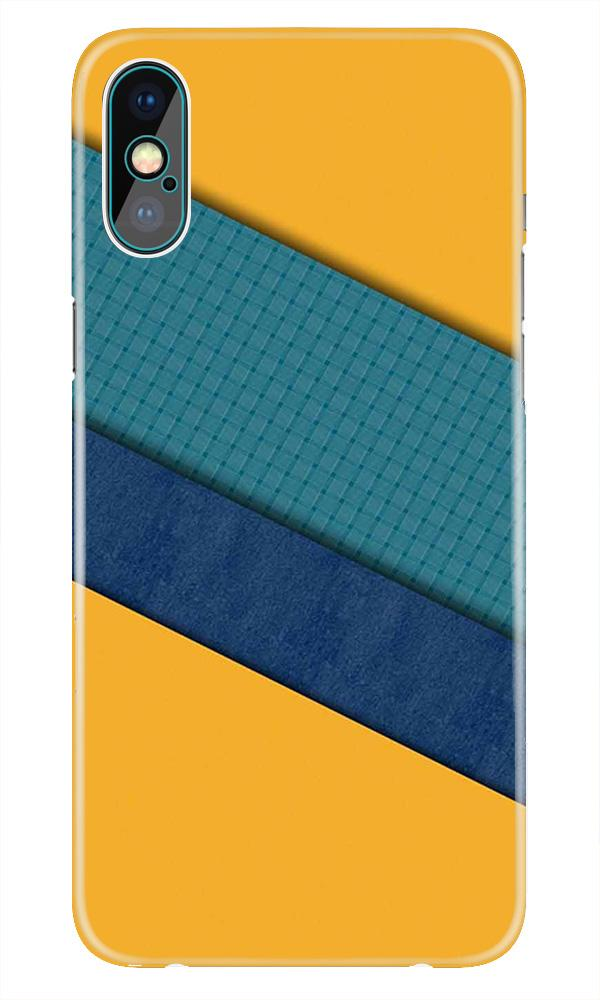 Diagonal Pattern Mobile Back Case for iPhone X  (Design - 370)