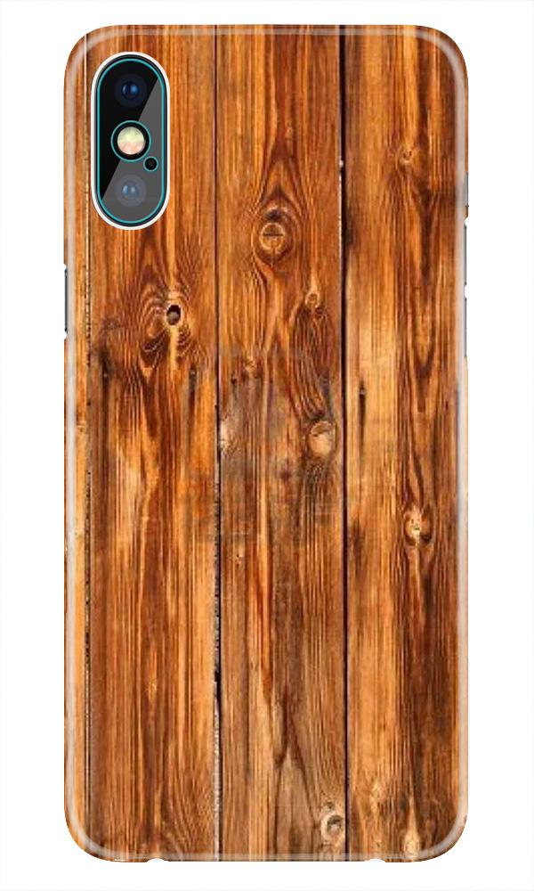 Wooden Texture Mobile Back Case for iPhone X  (Design - 376)