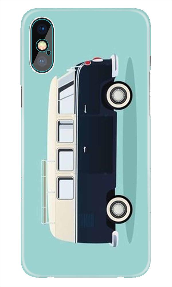 Travel Bus Mobile Back Case for iPhone X  (Design - 379)