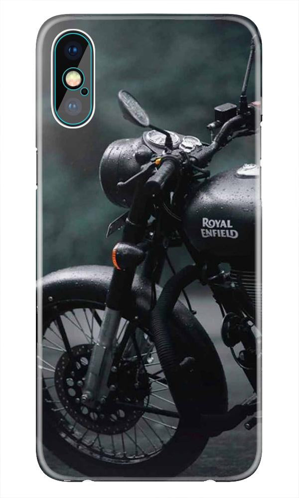 Royal Enfield Mobile Back Case for iPhone X  (Design - 380)