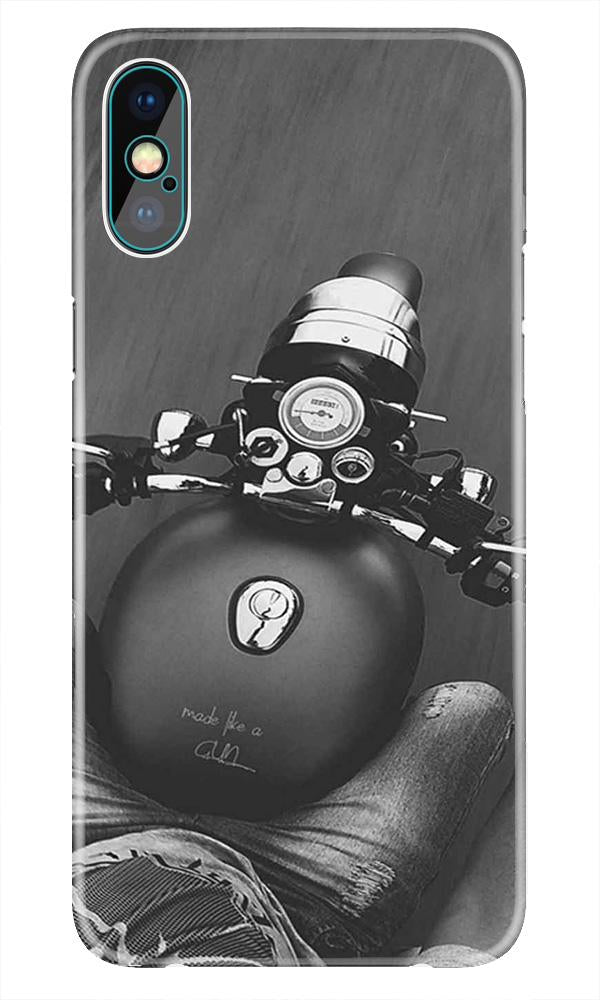 Royal Enfield Mobile Back Case for iPhone X  (Design - 382)