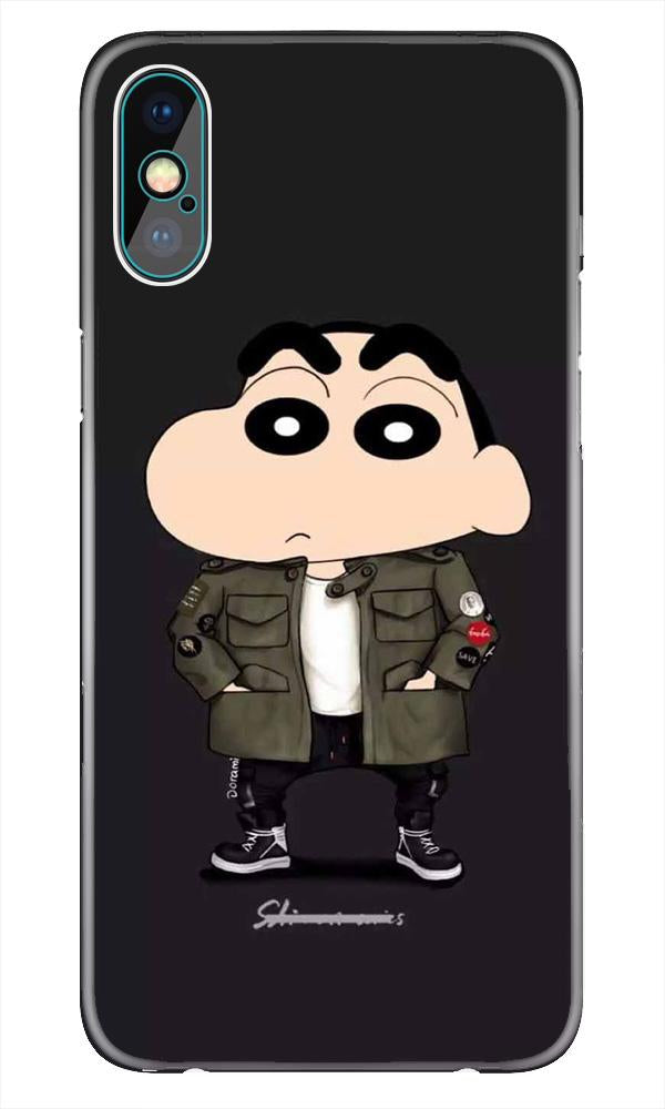 Shin Chan Mobile Back Case for iPhone X  (Design - 391)