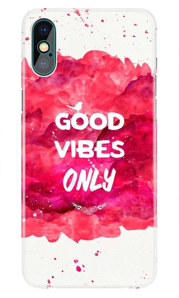 Good Vibes Only Mobile Back Case for iPhone X  (Design - 393)