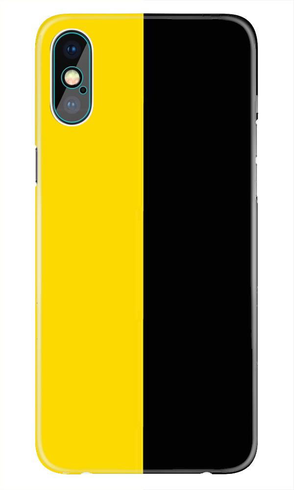 Black Yellow Pattern Mobile Back Case for iPhone X  (Design - 397)