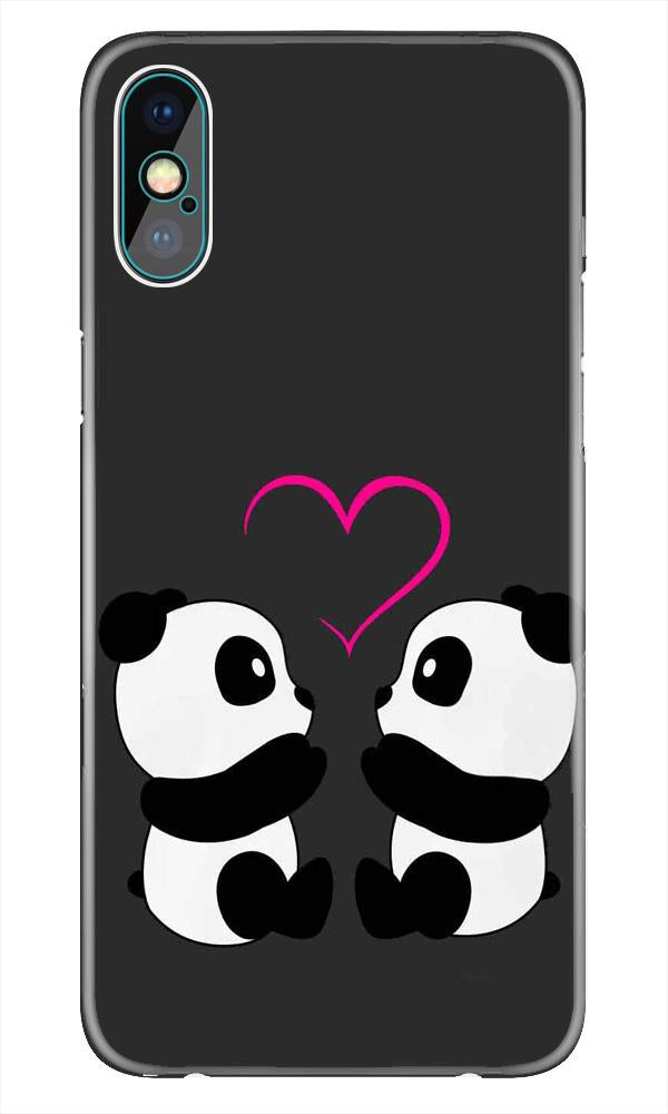 Panda Love Mobile Back Case for iPhone X  (Design - 398)