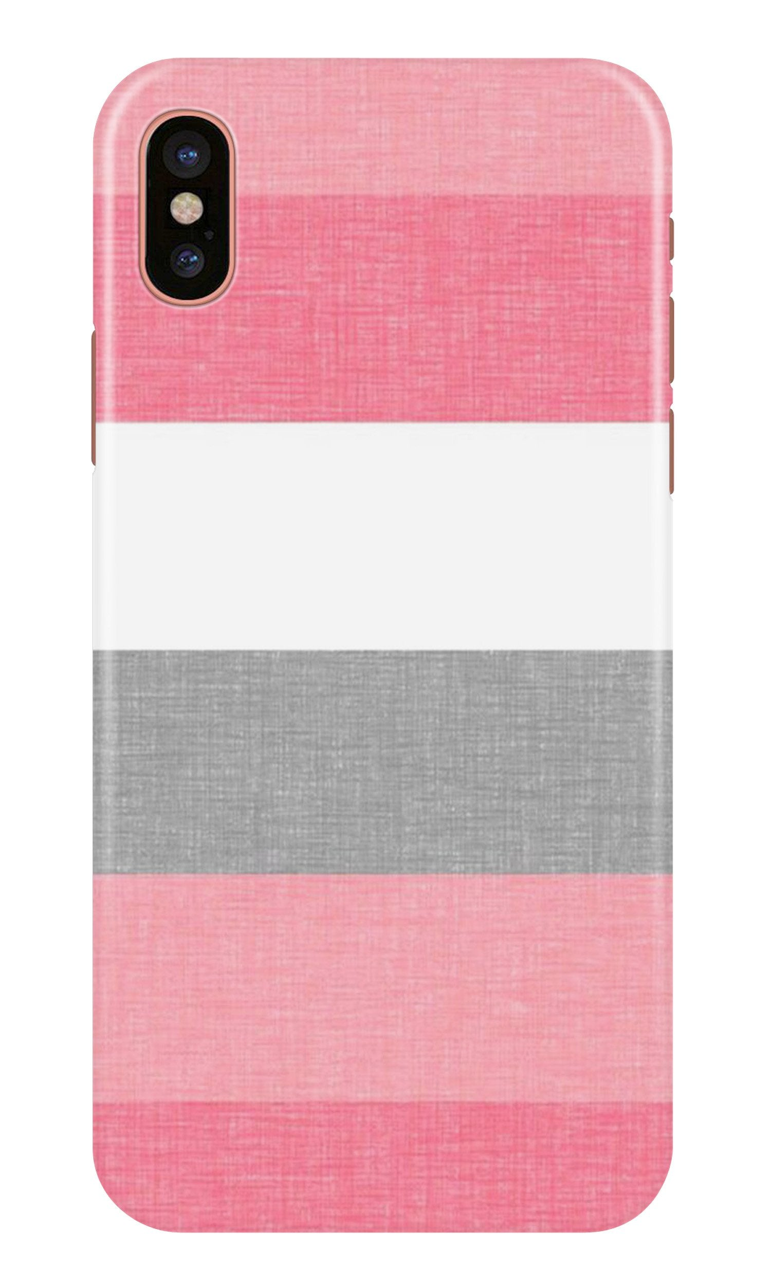 Pink white pattern Case for iPhone Xr