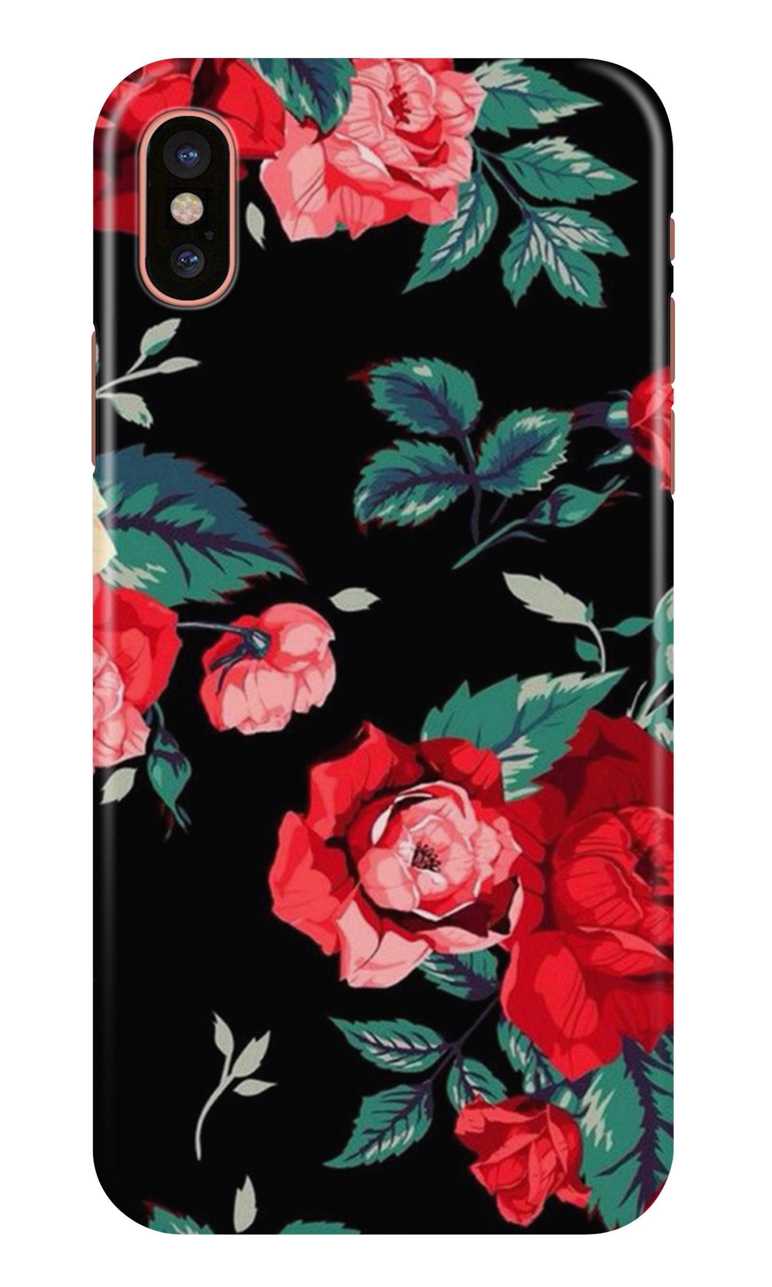 Red Rose2 Case for iPhone Xr