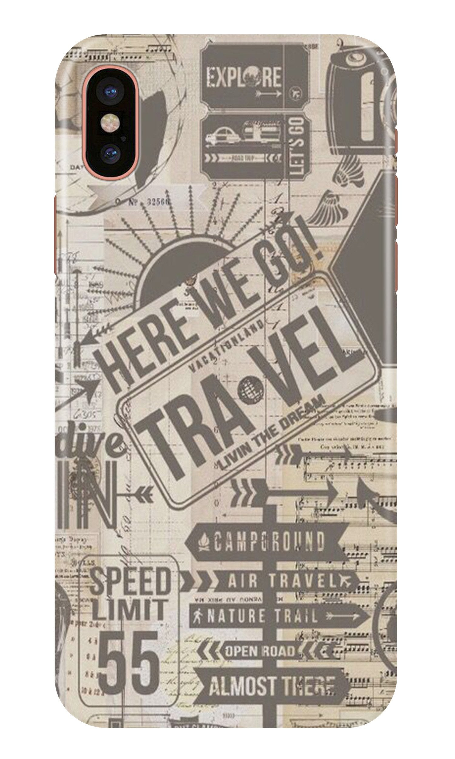 Travel Case for iPhone Xr  (Design - 104)