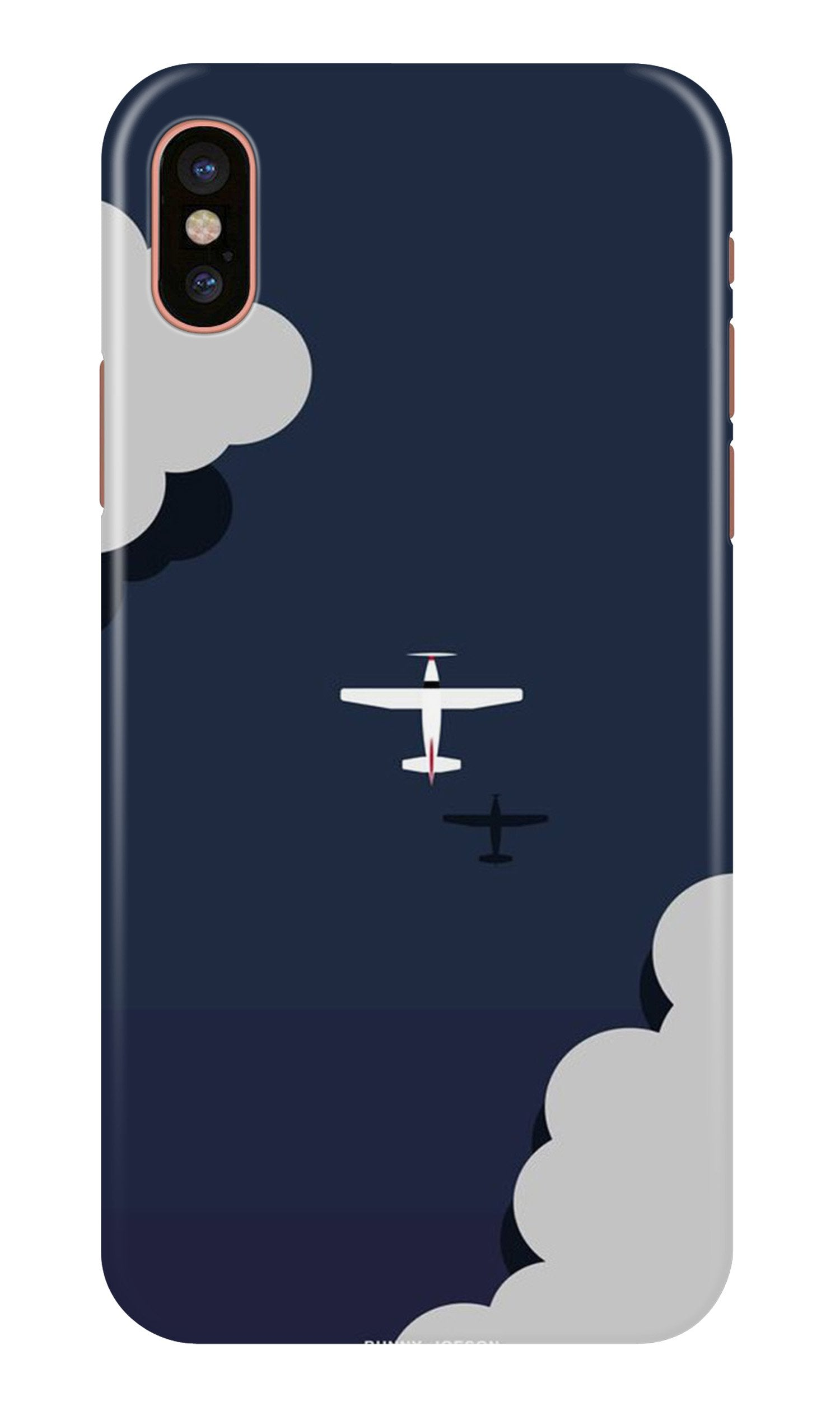 Clouds Plane Case for iPhone Xr (Design - 196)