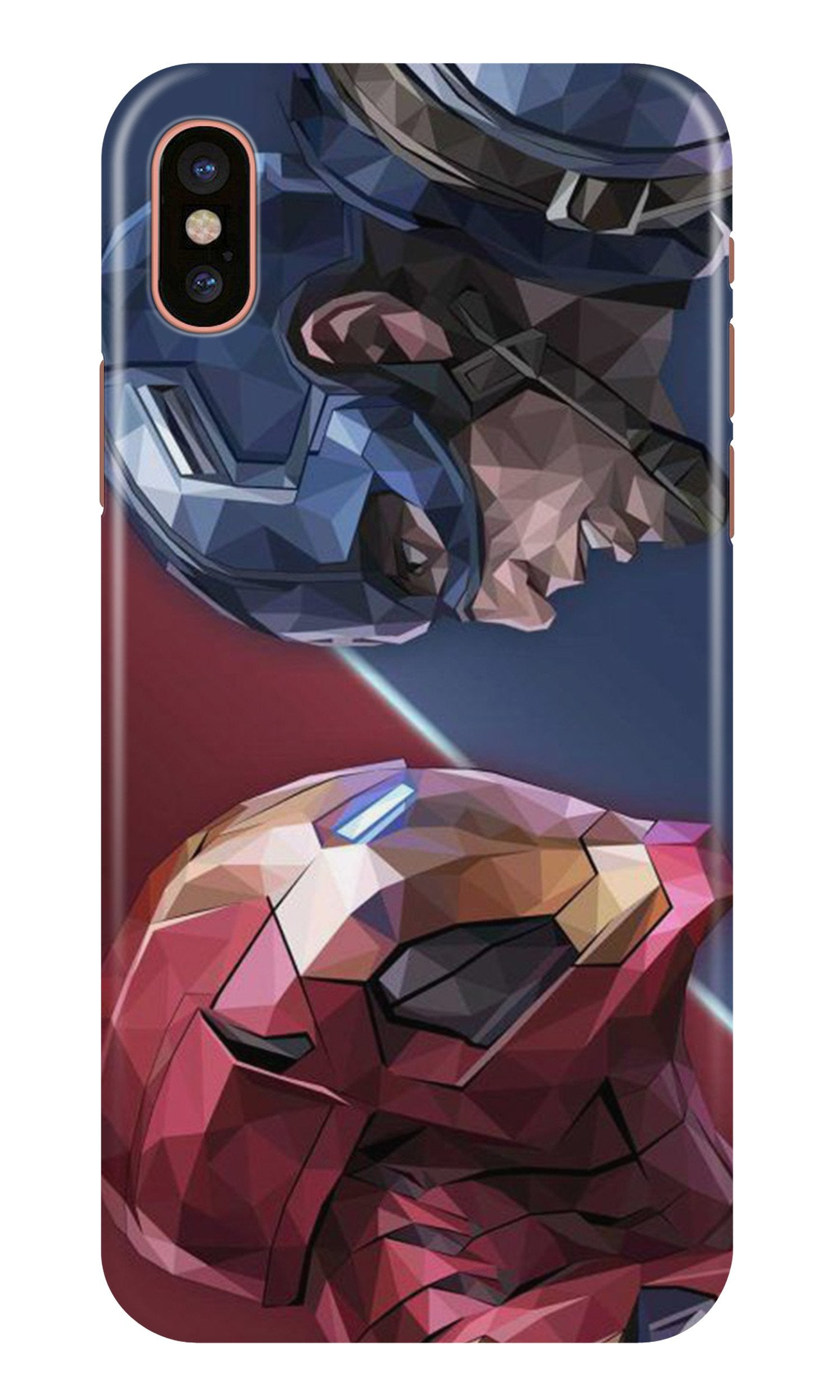 Ironman Captain America Case for iPhone Xr (Design No. 245)