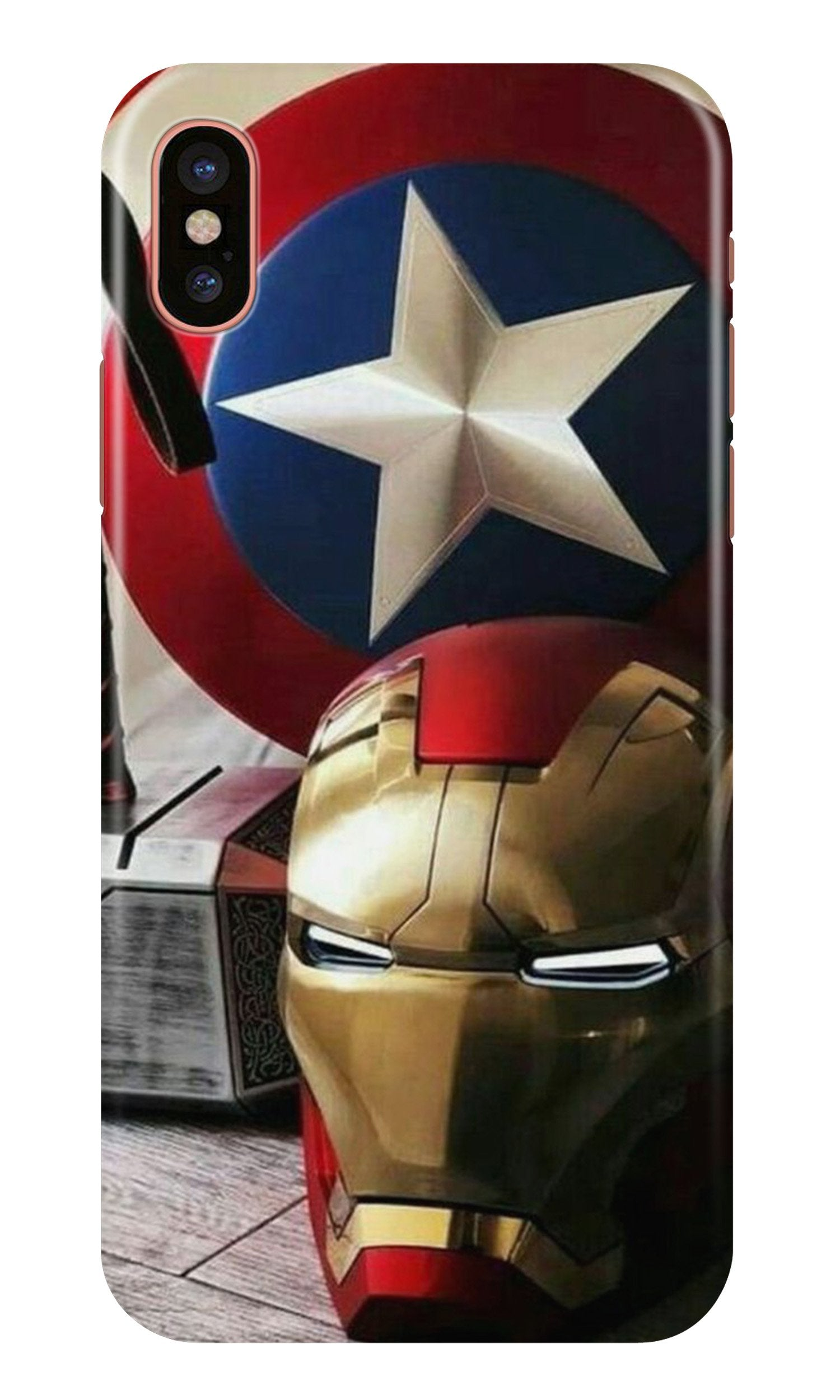 Ironman Captain America Case for iPhone Xr (Design No. 254)