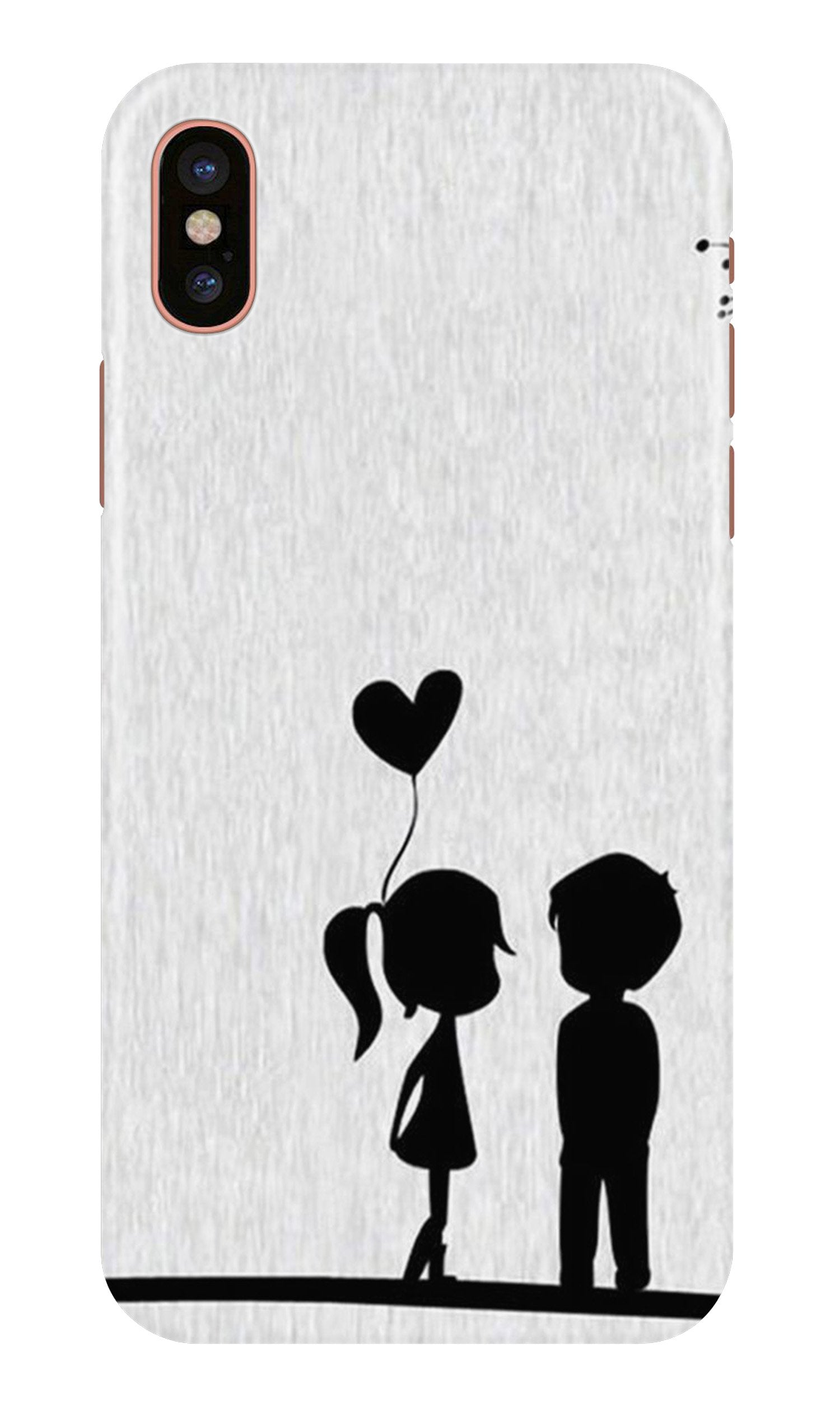 Cute Kid Couple Case for iPhone Xr (Design No. 283)