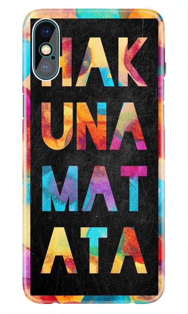 Hakuna Matata Mobile Back Case for iPhone Xr  (Design - 323)