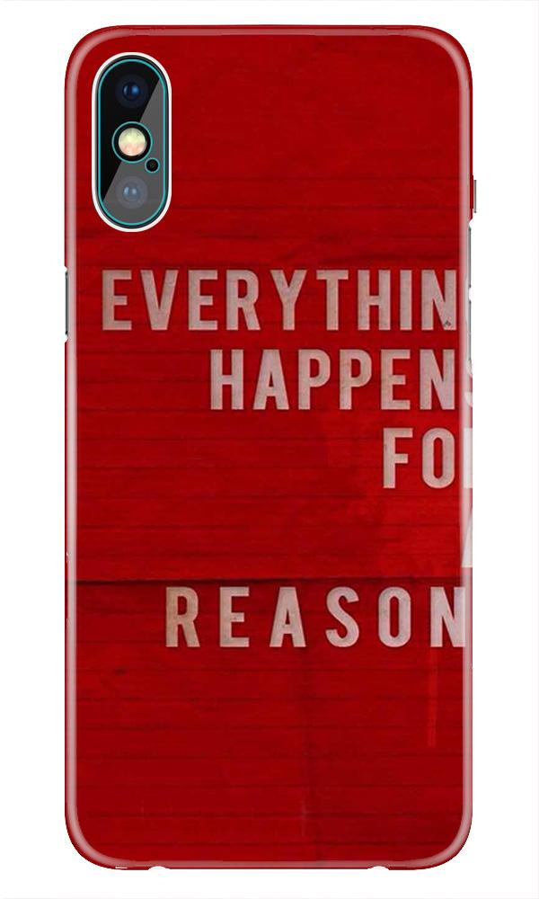 Everything Happens Reason Mobile Back Case for iPhone Xr  (Design - 378)