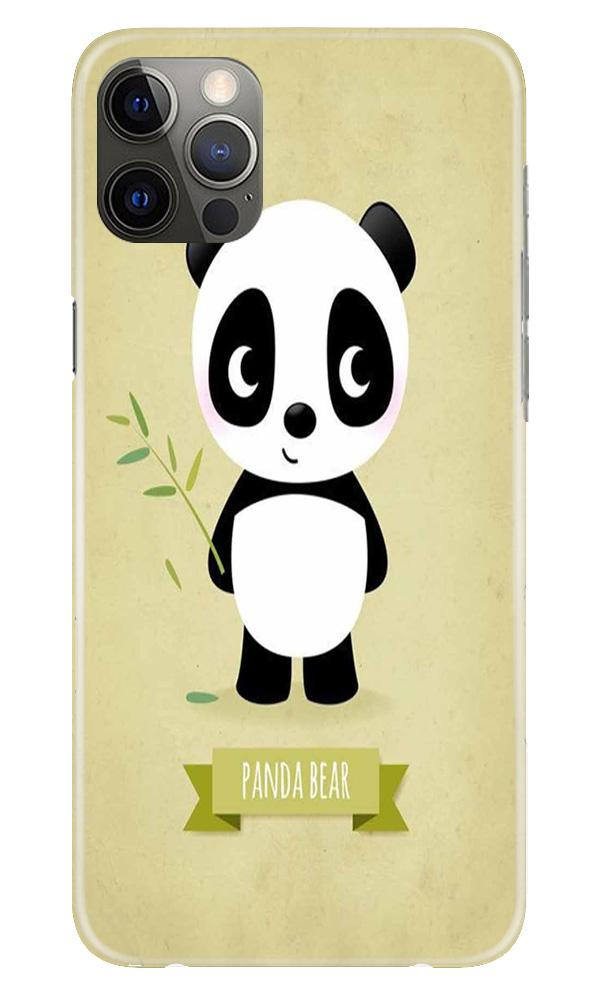 Panda Bear Mobile Back Case for iPhone 12 Pro Max (Design - 317)