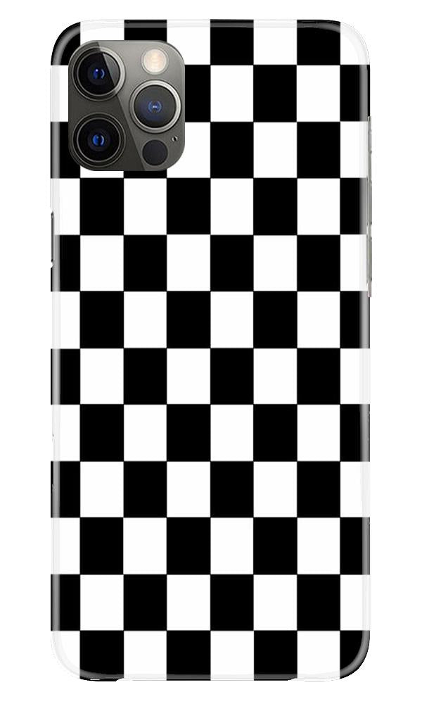 Black White Boxes Mobile Back Case for iPhone 12 Pro Max (Design - 372)