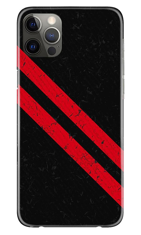 Black Red Pattern Mobile Back Case for iPhone 12 Pro Max (Design - 373)
