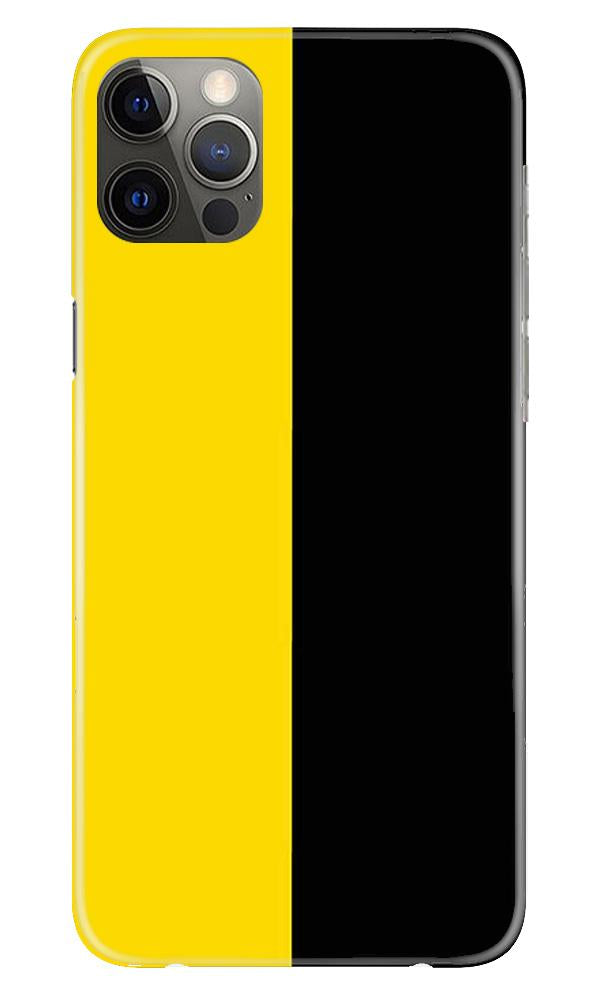 Black Yellow Pattern Mobile Back Case for iPhone 12 Pro Max (Design - 397)